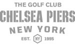 The Golf Club, Chelsea Piers New York. Est. 1995 Logo